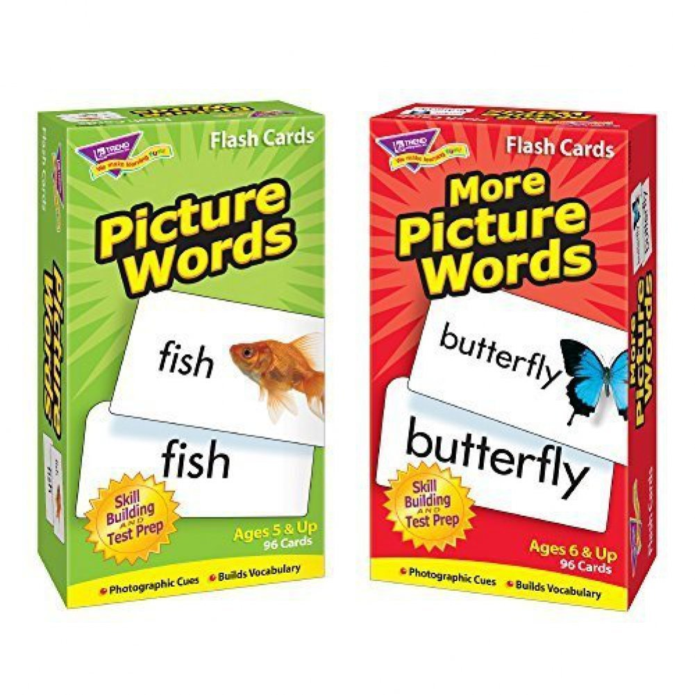 Educational Aid Picture Words Flash Cards
