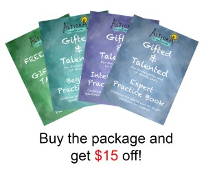 Gifted and Talented Test Practice Book Bundle