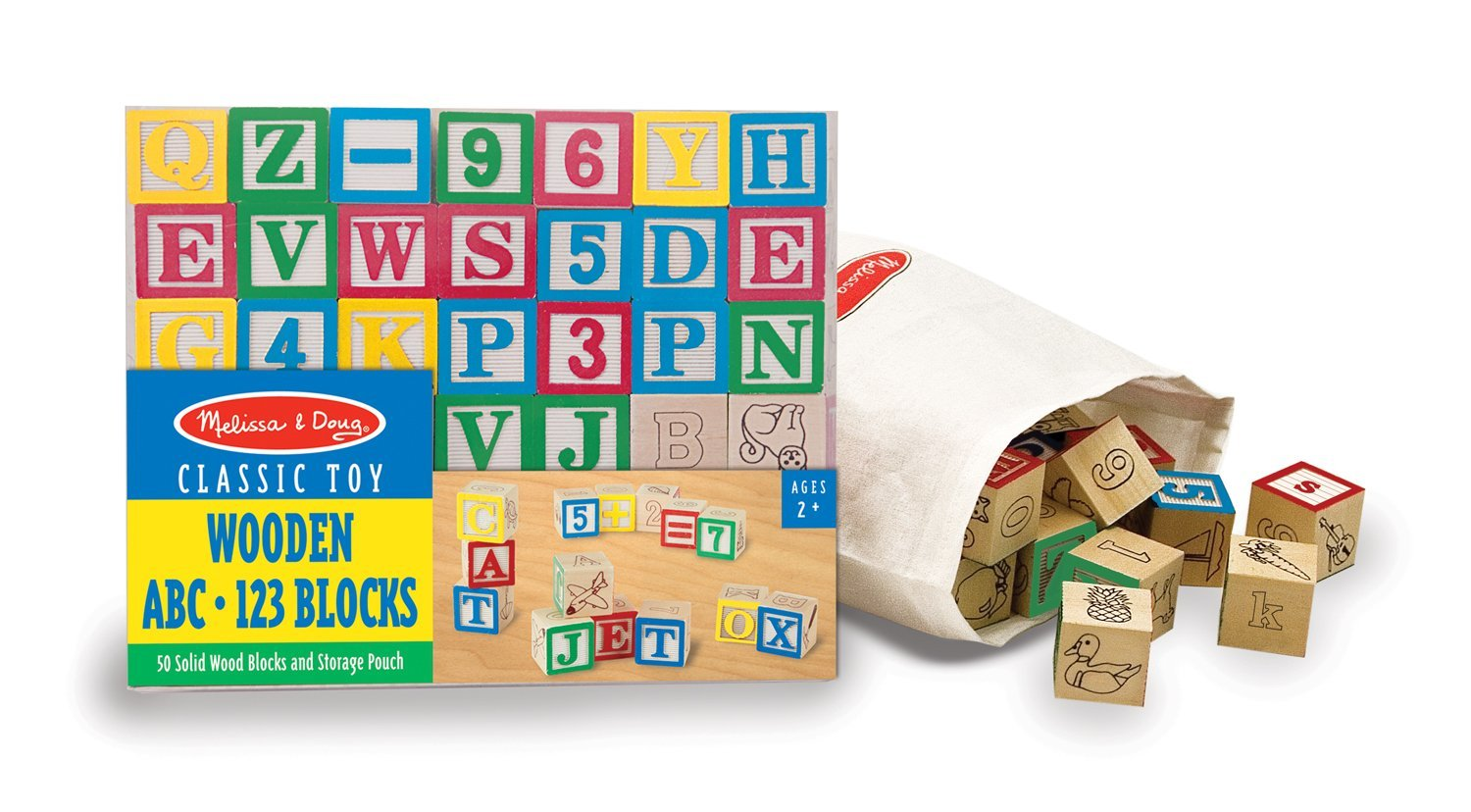 Educational Aid Wooden ABC 123 Blocks