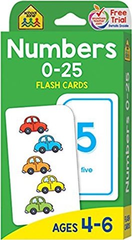Educational Aid Numbers Flash Cards